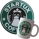 Bundle: Kaffeetasse + Mousepad StarTux Coffee