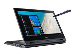Acer TravelMate B118M Linux Flip Netbook Pentium N5000, 29,5cm/11,6Zoll HD Touch-Display, 4GB RAM/500GB HDD