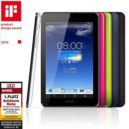 Refurbished: Asus Memo Pad HD ME176CX, 17,8cm/7Zoll IPS-TFT, 1GB RAM, 16GB SSD, Android 4.4, Intel Z3745 1.86GHz