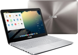 Asus N552VX Linux-Notebook, Alu-Gehäuse, entsp. FullHD-Display, Core i7-6700HQ, Nvidia GTX 950M/4GB