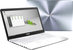 Asus N752VX Multimedia-Notebook, Alu-Gehäuse, FullHD-Display 17,3 Zoll (entspiegelt), Intel Core i7-6700HQ, 128GB NVMe SSD, Nvidia GTX 950M/4GB