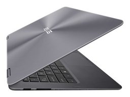 Asus UX360UA Zenbook Flip (Convertible) mit Intel Core i5-6200U, 33,8cm/13,3Z FullHD-Display Multitouch glare, Farbe grau, 8GB RAM, 256 GB SSD