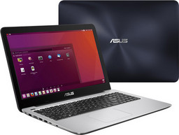 Asus X556UQ Linux-Notebook, Intel Core i5-7200U + Nvidia GT940M, 39,6cm/15,6Z HD-Display entspiegelt, USB 3.1 Typ C, WLAN ac, 1TB HDD/8GB RAM