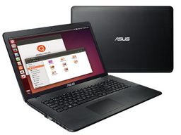 Asus X751LB Linux-Notebook 44cm/17,3 FullHD entspiegelt, Intel Core i7-5500U (Broadwell), Nvidia GeForce 940M/2GB
