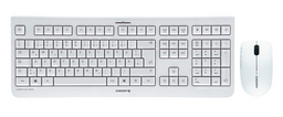 Wireless Keyboard Bundle Cherry DW3000 Tastatur + Optical Mouse 1200 dpi 2,4 GHz USB weiß (DE)