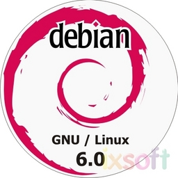 Debian Linux 6.0.9 Squeeze Vollversion auf 8 DVD