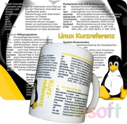 Linux-Referenz-Bundle Tasse+Mousepad, Deutsch