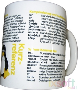 Linux-Referenz-Tasse Deutsch