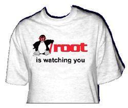 Linux T-Shirt Root is watching you ..