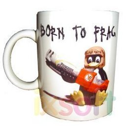 Born to Frag Linux-Tasse