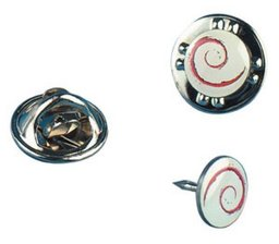 Debian Pin extra klein 0,7mm, emailliert, 10er Pack
