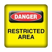DANGER - Restricted Area - PC-Sticker