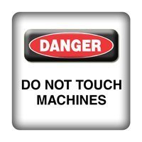 DANGER - Do not touch Machines - PC-Sticker