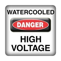 DANGER - Watercooled High Voltage - PC-Sticker