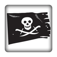 Piratenflagge PC-Sticker