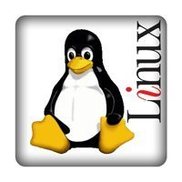 Tux + Linux weiß + PC-Sticker (Case Badge)