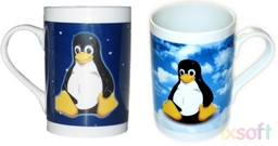 Linux Tassen-Bundle Tux Night & Day