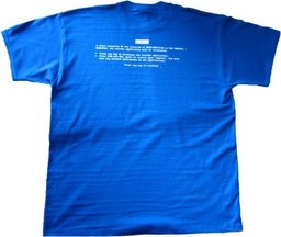 T-Shirt Windows Bluescreen Größe XL