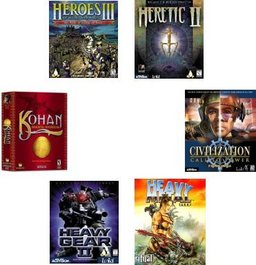 Loki Spiele-Bundle: Civilization, Heavy Gear II, Heavy Metal, Heretic, Myth II + Kohan