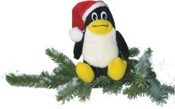 Linux Weihnachts-Pinguin Classic 15 cm mit roter Mütze