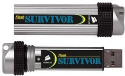 Corsair USB-Stick Survivor 16 GB, Metallausf�hrung