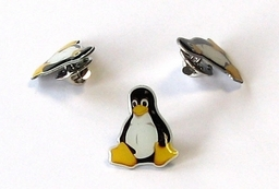 Linux Ansteck-Pin Tux 2x1,6 cm mehrfarbig