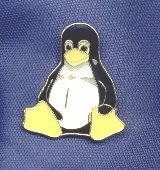 Tux Ansteck-Pin 2x1,6 cm, emailliert