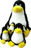 Tux-Set Happy Family: je 1 Pinguin 100cm + 50cm + 35cm + 23cm + 15cm + 10cm
