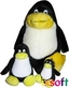 Tux Set Family: je 1 Pinguin 35cm + 15cm + 10 cm