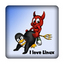 I love Linux - Beastie + Tux in Action - PC-Sticker 3D (Case Badge)