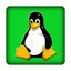 Tux gr�n 25x25 mm - PC-Sticker (Case Badge)