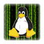 Tux in Matrix 25x25 mm - PC-Sticker (Case Badge)